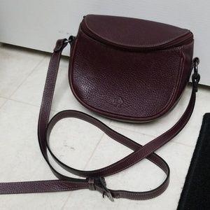 Purple Leather Saddle Bag Zippered NOBODY Purse